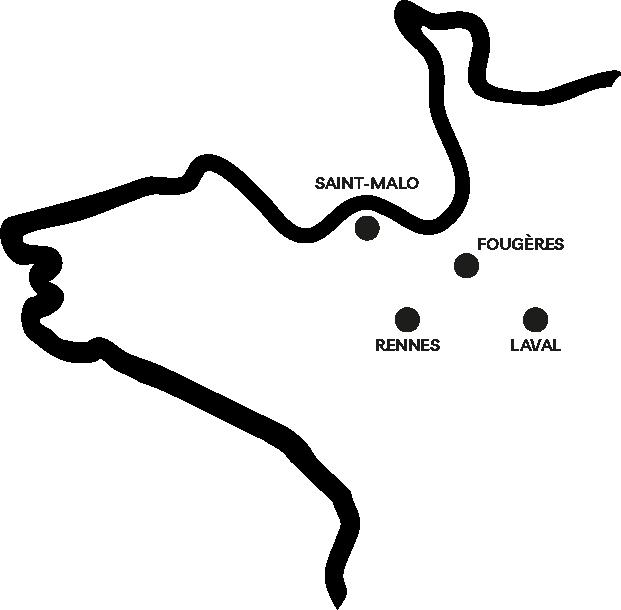 Carte de l'ouest de la france