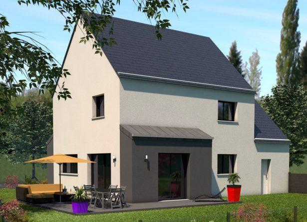 Maison traditionnelle 4 chambres façade arrière