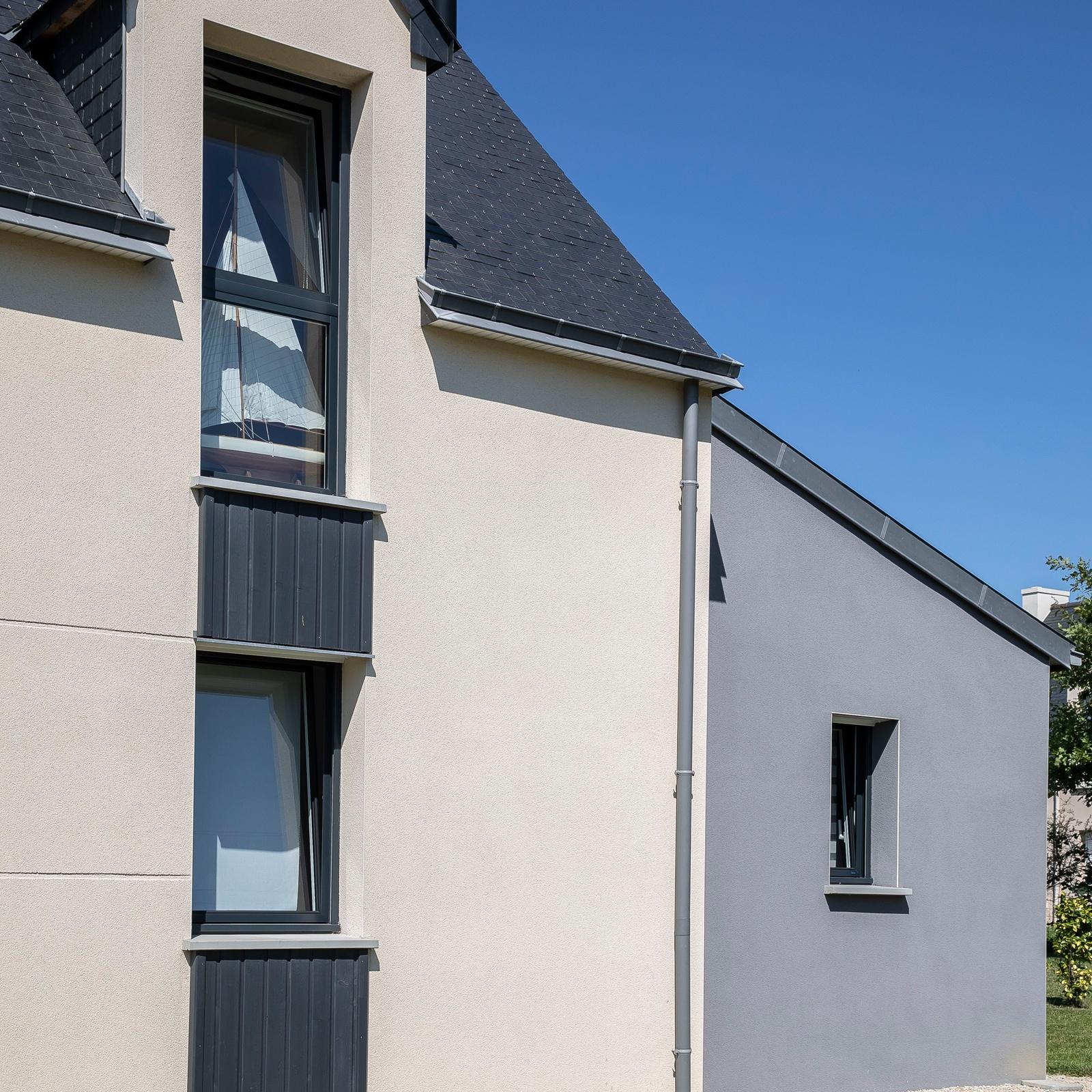 détail facade maison