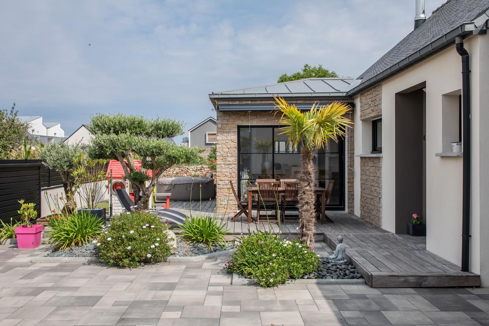 jardin maison plain pied