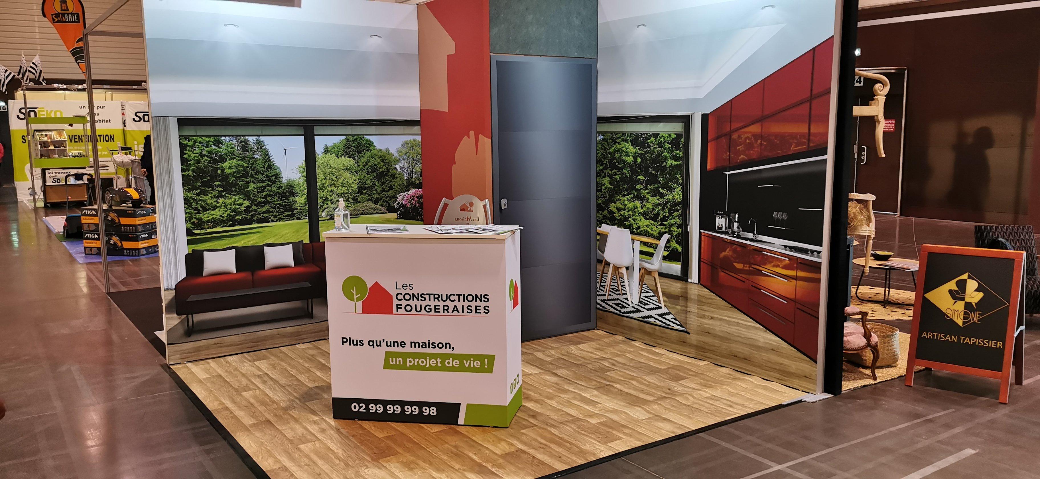 Stand Les Constructions Fougeraises à la Foire expo de Fougères