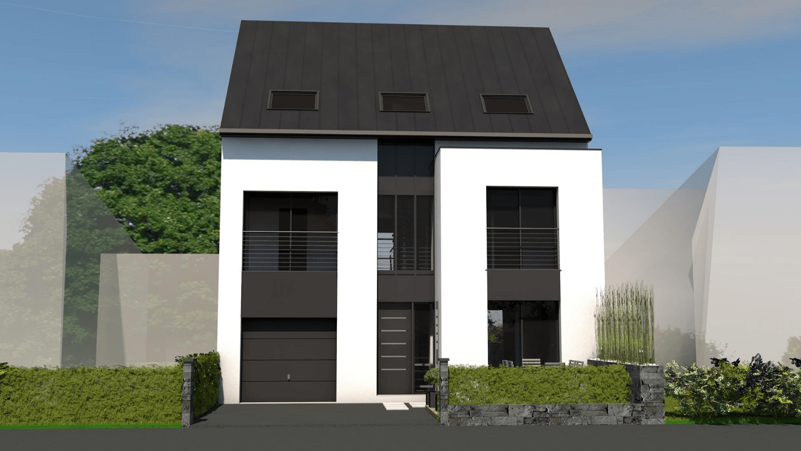 Maison de ville contemporaine sur-mesure
