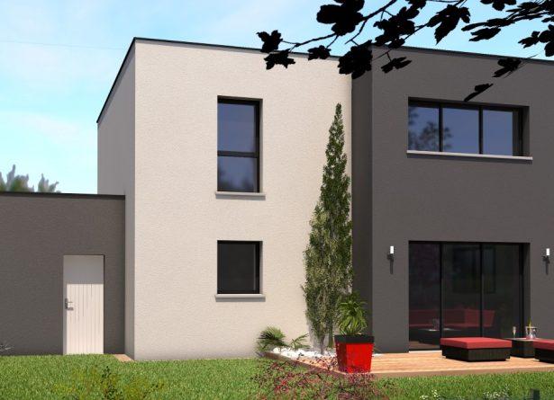 Maison monopente - façade arrière
