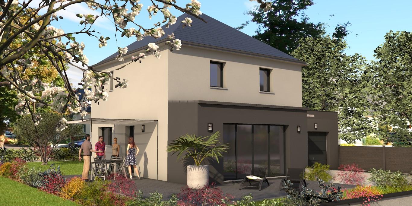 Belle maison contemporaine façade arrière