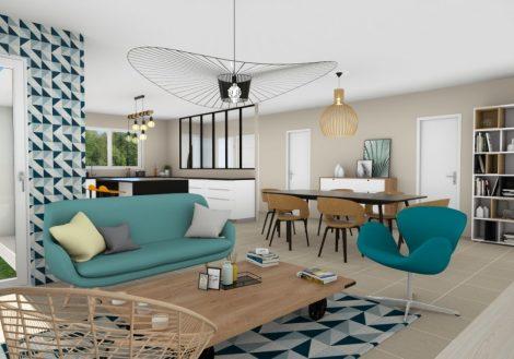 Aménagement intérieur maison de plain-pied