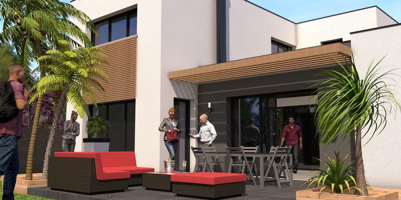 Terrasse contemporaine