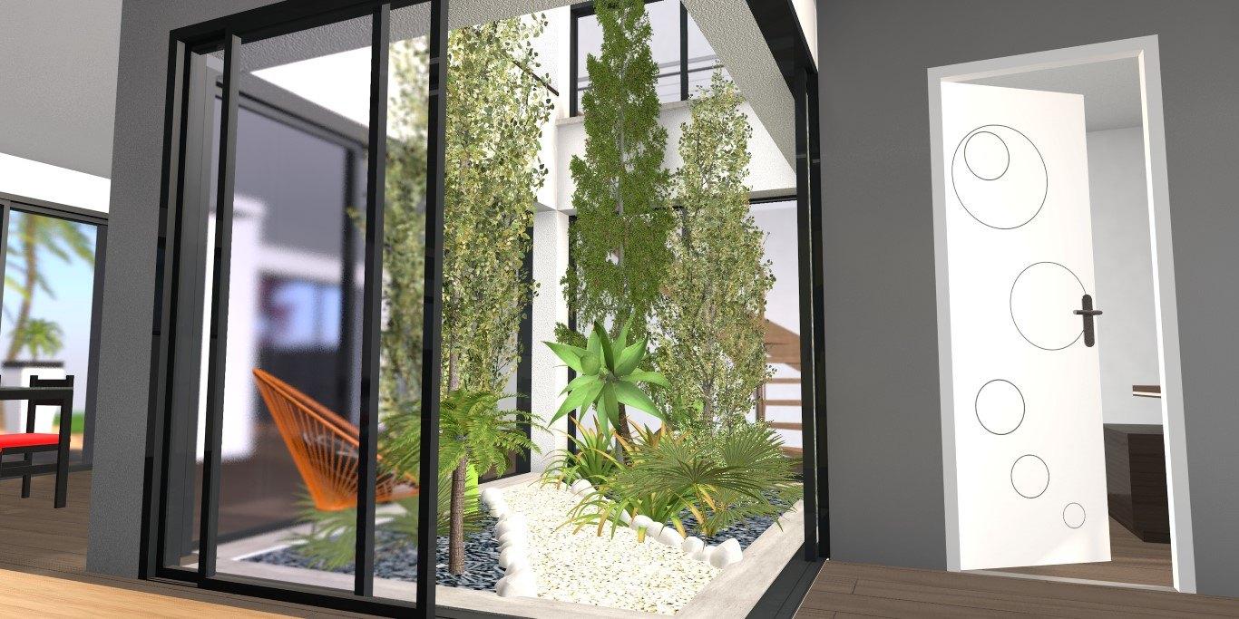 Puit de lumière et patio intérieur