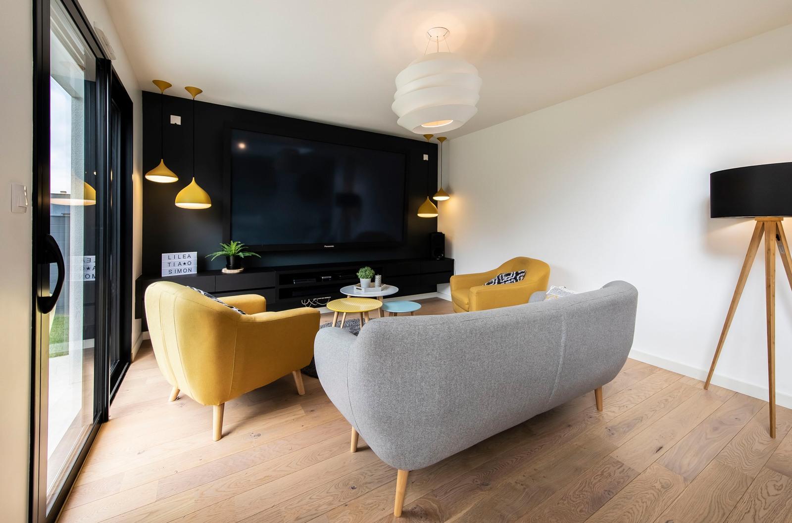 Salon moderne coloré