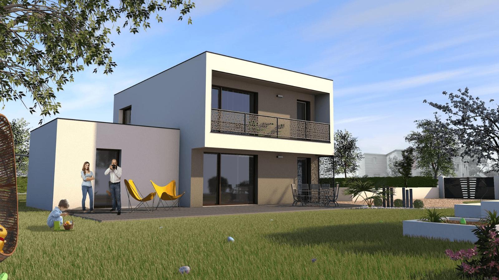 Maison contemporaine de 4 chambres